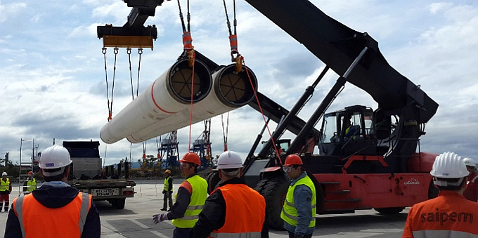 We supplied the first parcel of pipes for the South Stream pipeline to Bulgaria